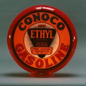 CONOCO ETHYL GAS PUMP GLOBE