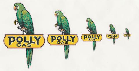 """DC206 Polly Gas 12/"""" Vinyl Decal"""